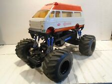 Vintage Tonka Ambulance Monster Truck - New Bright RC Control