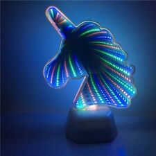 Cactus Unicorn Tunnel Night Lamp Infinity Mirror Light LED Light