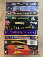 11 horror sci-fi vhs lot mole people Sinbad the thing Gargoyle High Spirits