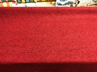 D788 Dark Red Durable Soft Chenille Upholstery Fabric By The Yard