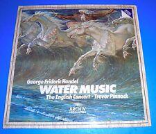 STEREO LP ARCHIV 410525 HANDEL WATER MUSIC PINNOCK ENGLISH CONCERT