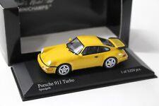 1:43 Minichamps Porsche 911 964 Turbo Speed yellow NEW bei PREMIUM-MODELCARS