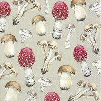 20 Servietten, Serviettentechnik Country Mushrooms Pilze IHR, 33x33