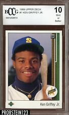 1989 Upper Deck #1 Ken Griffey Jr. RC Rookie BCCG 10 HOF Centered