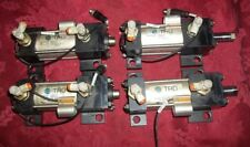 Lot Of 4 Bimba Pneumatic Cylinders CYL-956-2107,Prox. Switch & Flow Controls