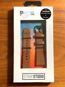 Strap Studio, Essex Brown 20mm for Samsung Galaxy Watch & Gear Sport