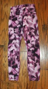Preowned Lululemon Womens Wunder Under Full Length yoga Pants Size 4 Purple pink