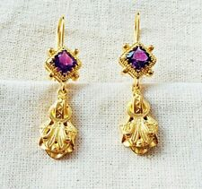 Mesmerizing Amethyst Vermeil 14k Gold Over Sterling Silver Earring