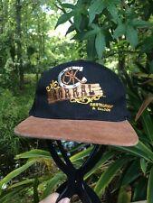 OK CORRAL RESTAURANT & SALOON HAT CAP - JORDAN MINNESOTA Embroidery Black  Brown