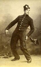 Humoristic Military Portrait Meudon France Old Photo Delaporte 1875