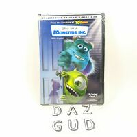 Monsters, Inc. (DVD, 2002, 2-Disc Set, Collectors Edition, Disney) New Sealed
