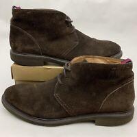 Natha Studio Brown Suede Chukka Ankle Boots Black Soles Men's Sz 11.5 M 10164