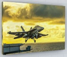 MILITARY JET PLANE CANVAS PICTURE PRINT WALL ART CHUNKY FRAME 145-2