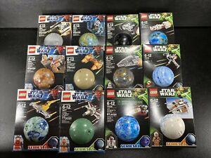 Lego Star Wars Planet Ornaments Mini Sets Complete 12 Piece Set Series 1-4 RARE
