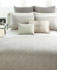 Vera Wang Love Knots 5P Queen Duvet Cover Shams Pillow Set Platinum Beige Htf