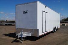 SALE 34' Aluminum HD Enclosed Moving Cargo Trailer w/  8K Axles Barn Doors