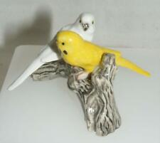 More details for klima miniature porcelain 2 parakeets (budgies) on branch yellow/white m179