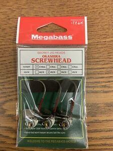 New Megabass Jig Head Okashira Screwhead Head 1/16 Oz #3/0 Real Minnow