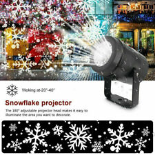 Christmas Moving Laser Projector LED Snow Snowflake Fairy Light Xmas Lamp Party