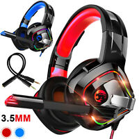 LED Stereo Surround Gaming Headset Headphone for PS5/Xbox one/PC/Nintendo Switch