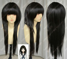 LMSW70 long straight natural black hair wigs for modern women hair wig