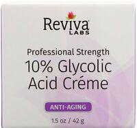 10% Glycolic Acid Creme by Reviva Labs, 1.5 oz