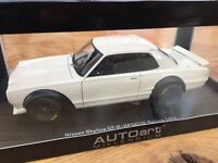 AUTOart 87277 87279 NISSAN SKYLINE GT-R Hakosuka KPGC10 model road car 1972 1:18