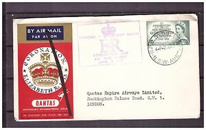 s16142) AUSTRALIA 2.6.1953 AM Cover QEII Coronation Sidney London