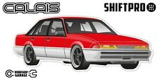 VL Calais Holden Commodore Sticker - Red with Black Momo Rims - ShiftPro Brand