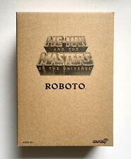 Super7 Filmation He-Man MOTU Club Grayskull Roboto Figure New In Shipper