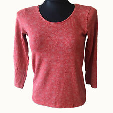 Gudrun Sjöden Damen Bluse Top Shirt Blouse Gr.M (DE 36) Longsleeve Orange 75164
