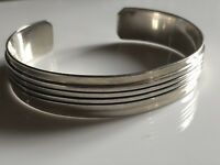 Stunning Heavy Vintage Solid Sterling Silver 925 Unisex Cuff Bangle 27.8g