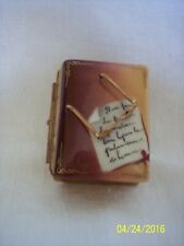 LIMOGES Porcelain BOOK WITH GLASSES Trinket Box