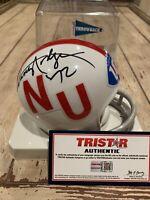 Johnny Rodgers Autographed/Signed Mini Helmet TRISTAR Nebraska Cornhuskers