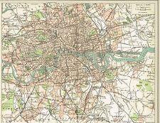 Stadtplan von LONDON / INNER-LONDON 1894 Original-Graphik