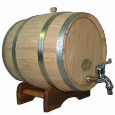 10L / 2,7 Gallon NEW! NOW THICKER WOOD Europe Oak Rum Whiskey Barrel Beer Keg