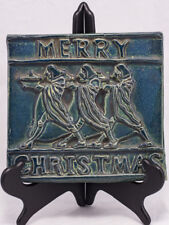 """Merry Christmas"" Maxfield Parrish Design Art Tile by Ann Fisher of Royal Oak MI"