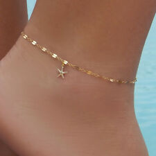 Anklet Jewelry Women Gold Plated Starfish Ankle Charm Chain Foot Elegant Beach