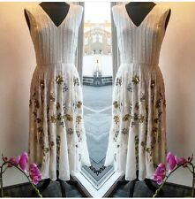 Dress 10 BNWT Virgos Lounge Embellished Midi Wedding Bridesmaids Prom RRP £135