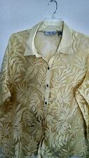 George Simonton Says yellow burnout leaves long-sleeved big shirt jacket 3X, 4X