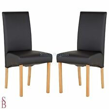 Heart of House Pair of Black Skirted Dining Chairs x 2 - BNIP