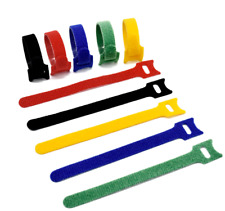 More details for velcro reusable hook & loop cable ties, double sided in various colours lot