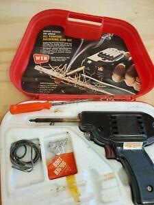 Wen USA vintage 222K5 Soldering Gun Kit 25 - 200 Watt w/ Access & Solder z6