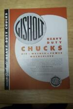 Vtg Gisholt Machine Co Catalog~Heavy Duty Chucks~ Lathe Tool~Madison WI