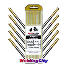 "10-pk TIG Welding Tungsten Electrode 1.5% Lanthanated Gold 1/16""-3/32"" US Seller"