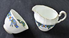 ROYAL ADDERLEY Bone China NOVA SCOTIA TARTAN Set Mini Creamer & Open Sugar Bowl
