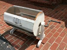 """Large Vtg Wood / Wire Raffle Ticket Drawing Turning Drum - 25""""H X 16""""R X 38"""" L"""