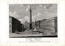 ROMA - Colonna Antonina  - incisione su rame originale fine '700