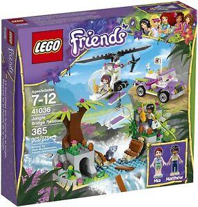 41036 LEGO Friends Jungle Bridge Rescue Set - 99.7% Complete w/ Manual
