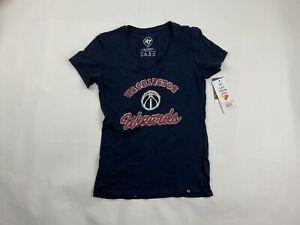'47 Washington Wizards V-Neck Short Sleeve T-Shirt Women's Small 429165
